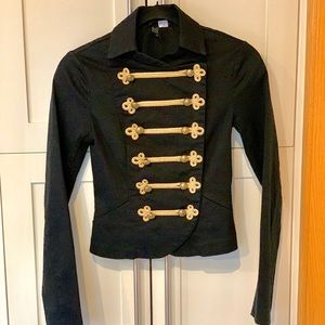 H&M Divided Black Band Military Jacket Size 2